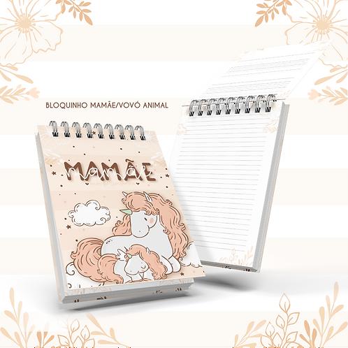 Arquivo Bloquinho Mamãe/Vovó Animal