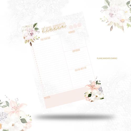 Planejamento diário Dia das Mães Floral