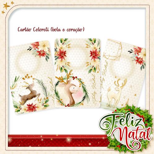 CARTÃO BLISTER/COLORETI DESEJOS DE NATAL
