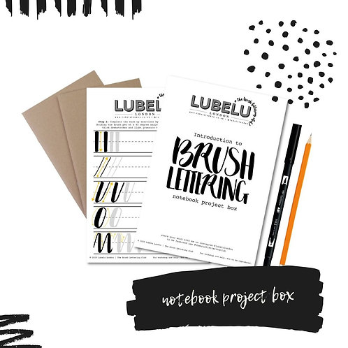 Brush Lettering Kit - Notebook Project