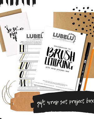 Brush Lettering Kit - Gift Wrap Project