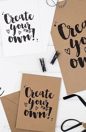 Brush Lettering Kit - Greeting Cards Project