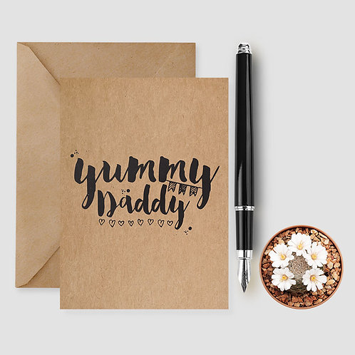 yummy daddy card, love daddy card, daddy birthday card