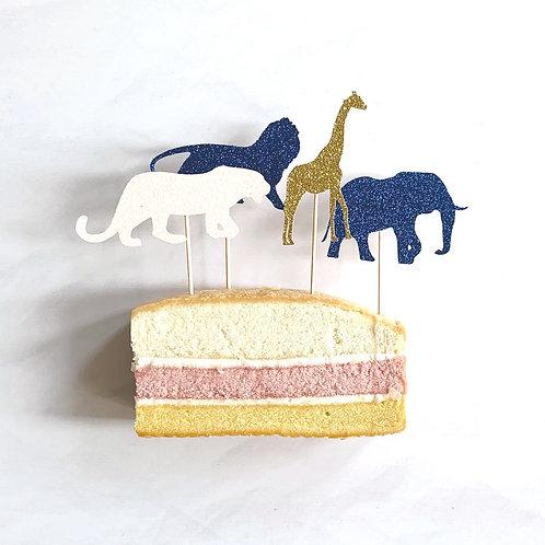 Safari Animals Cupcake Toppers Pack of 8