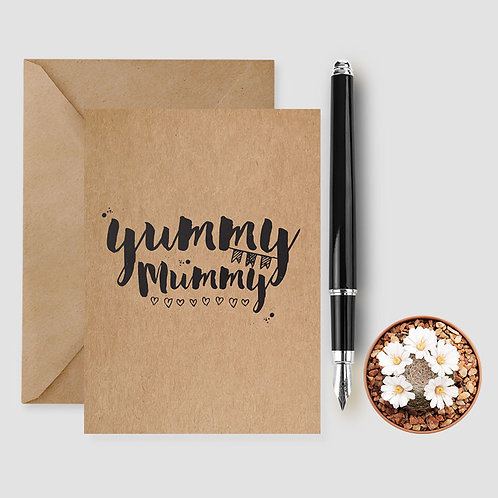 yummy mummy card, mothers day card,