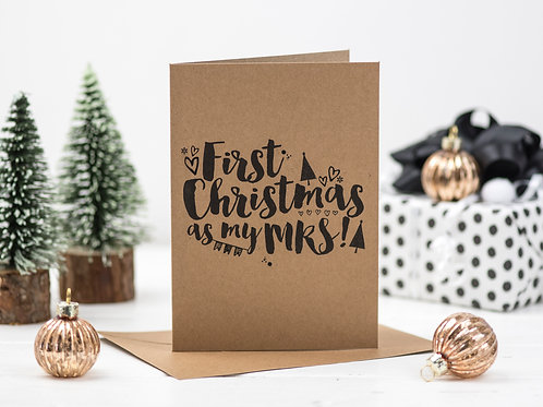 First Christmas As My Mrs card