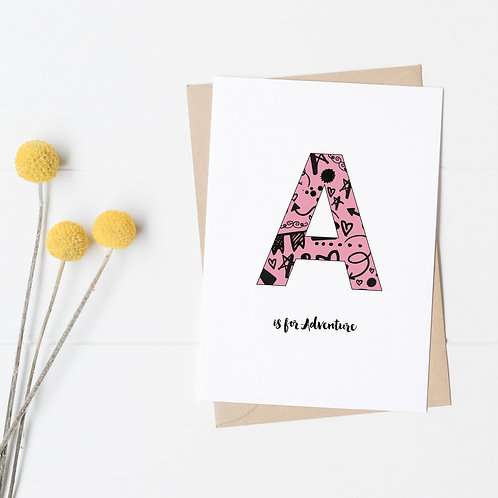 Personalised Initial Card