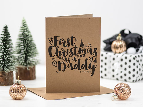 First Christmas As A Daddy card