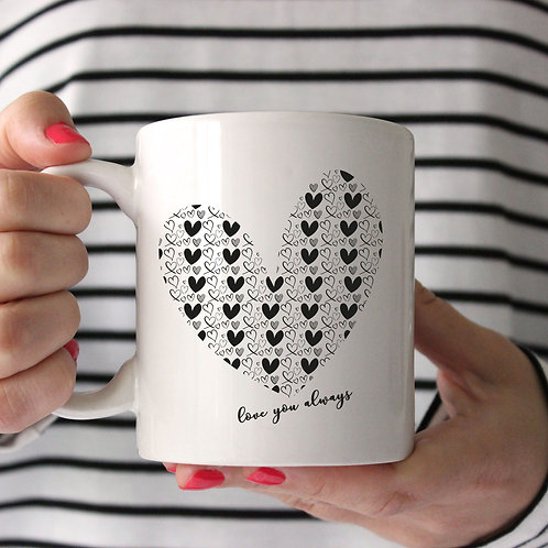 Love You Always Hearts Mug
