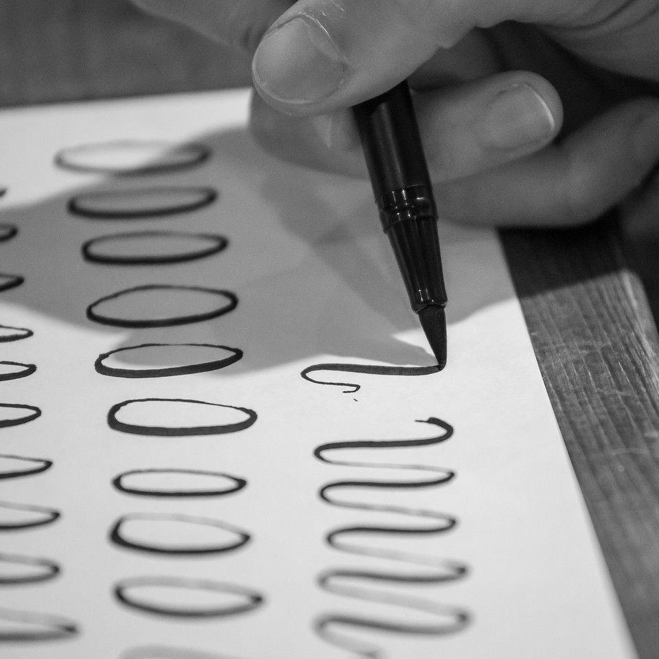brush lettering workshop class london