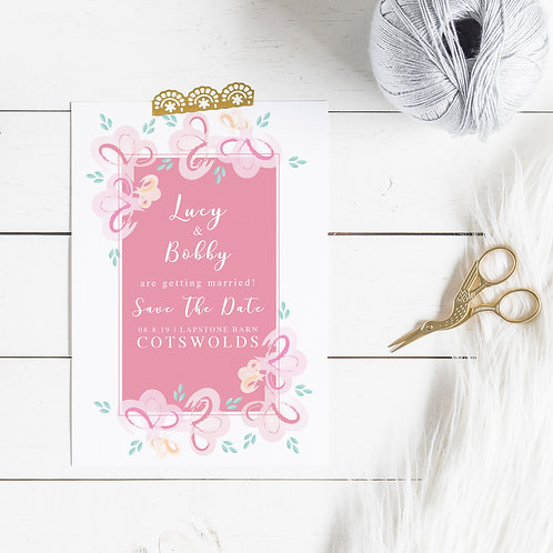 Bloomin Marvellous Personalised Save The Date Card