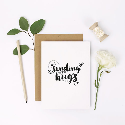 Sending Hugs Stay Home card