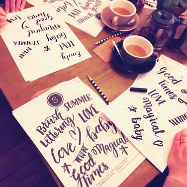brush lettering workshop london