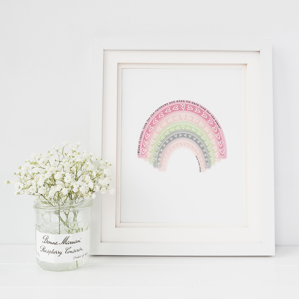 Rainbow NHS Charity Print Lubelu London illustration