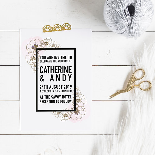 True Romance Personalised Save The Date Card