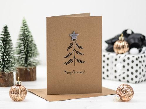 Star Tree Christmas card