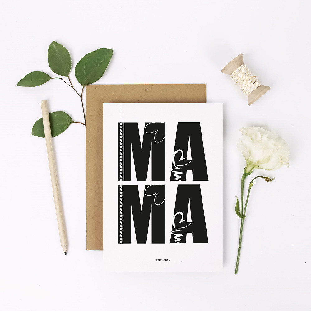 Mother's Day card Mama Lubelu personalised design