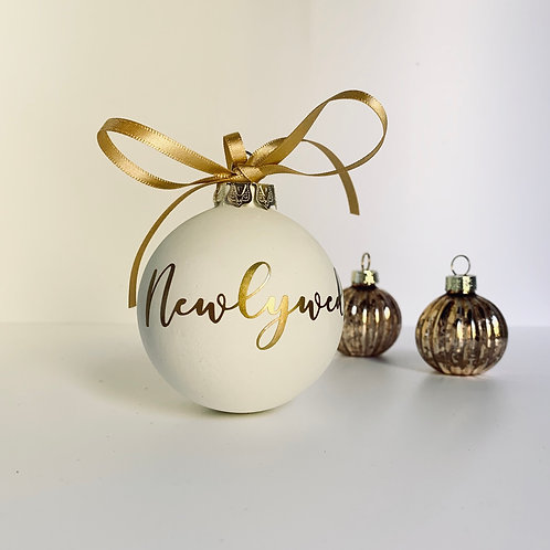 Newlyweds Ceramic Christmas Bauble