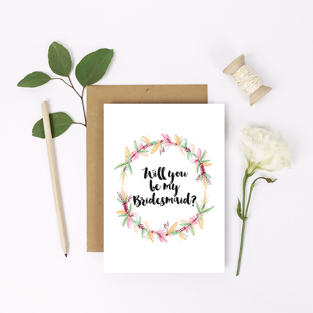 personalised wedding stationery lubelu bridesmaid