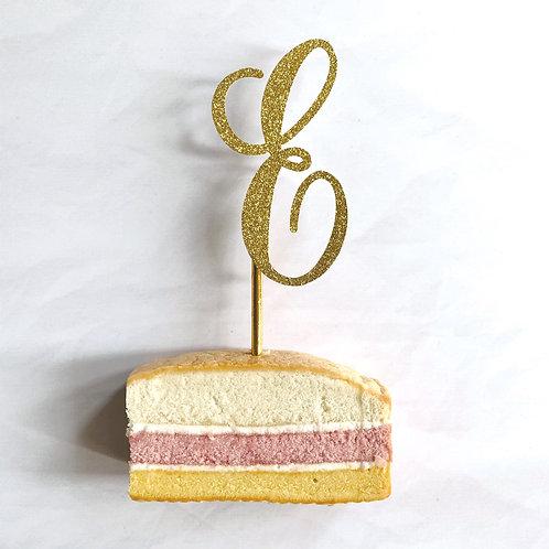 Single Letter Cake Topper