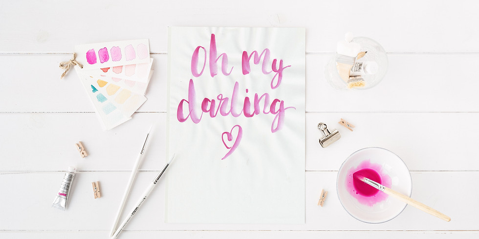 Introduction to Watercolour Brush Lettering