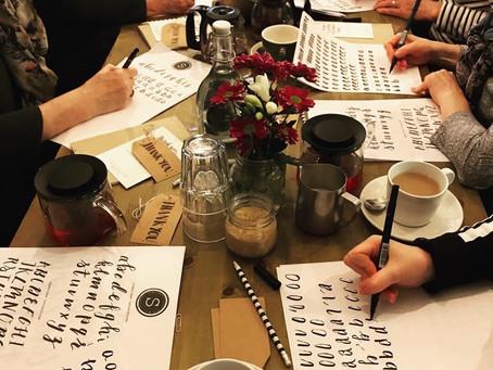 brush lettering - how to start brush lettering - the workshop