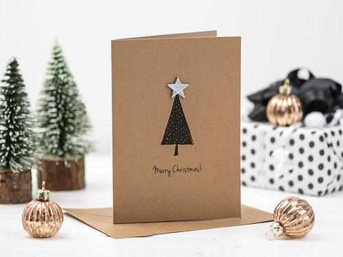 Christmas Tree and Star Christmas card