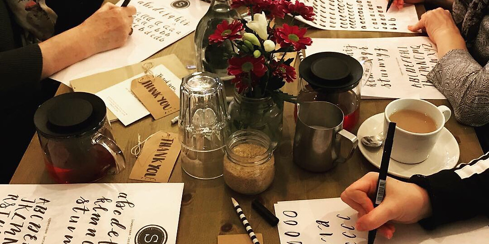 Introduction to Brush Lettering & Christmas Gift Wrap Set Workshop