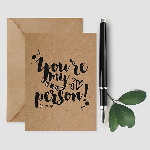 you're my person card, wedding card, love card