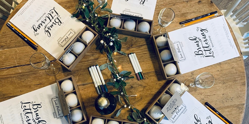 Introduction to Brush Lettering & Christmas Bauble Workshop