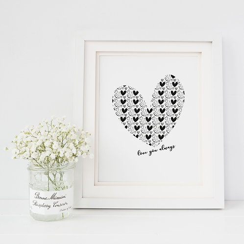 Lots of Love Print