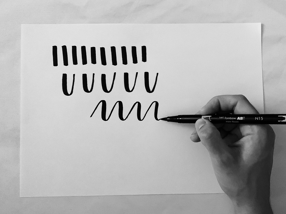 3 easy brush lettering tips lubelu London