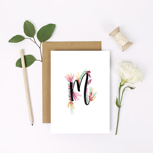 Initial Flower Card