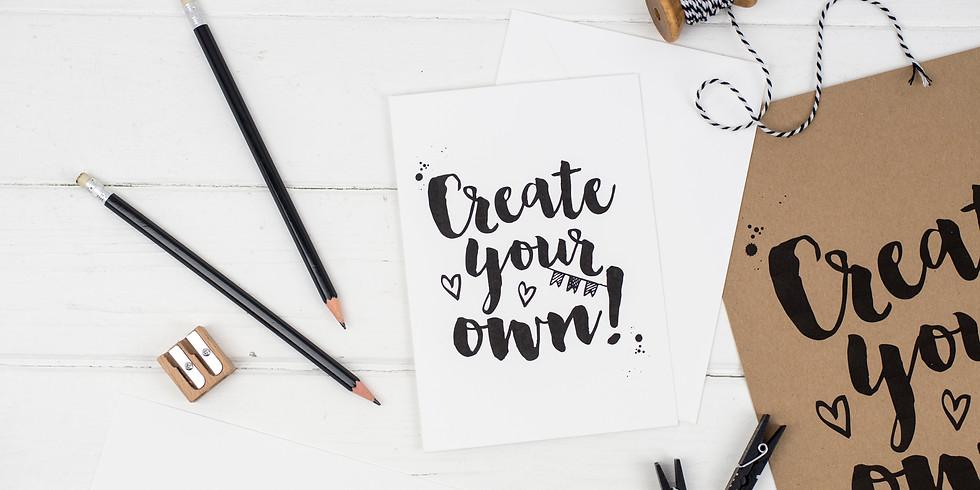 brush pen lettering for beginners workshop