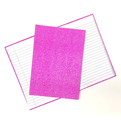 A5 Glitter Hardback Book