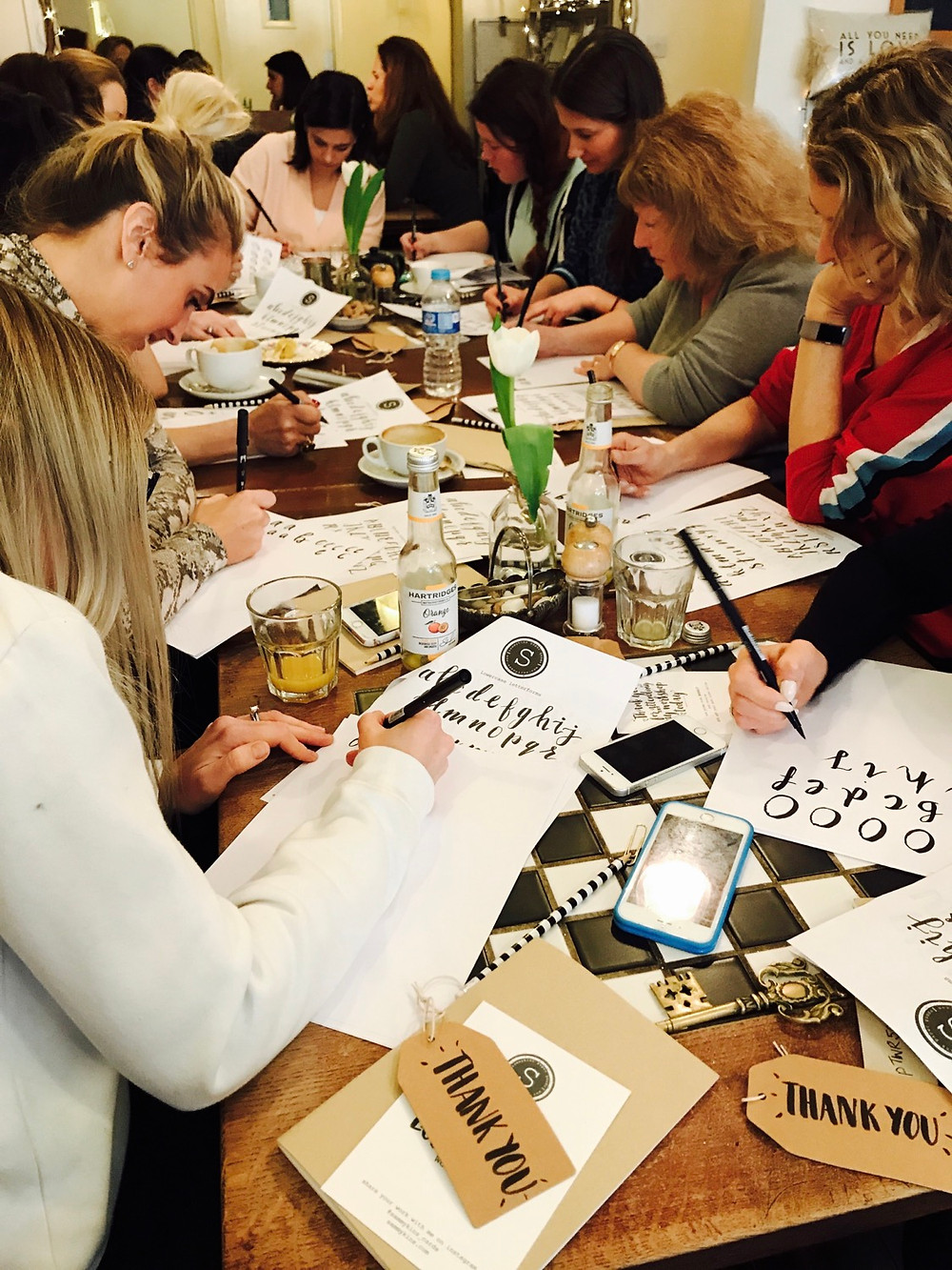 brush lettering calligraphy workshop class london