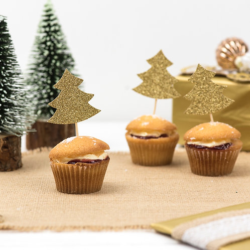 Christmas Tree Cupcake Toppers Pack of 8
