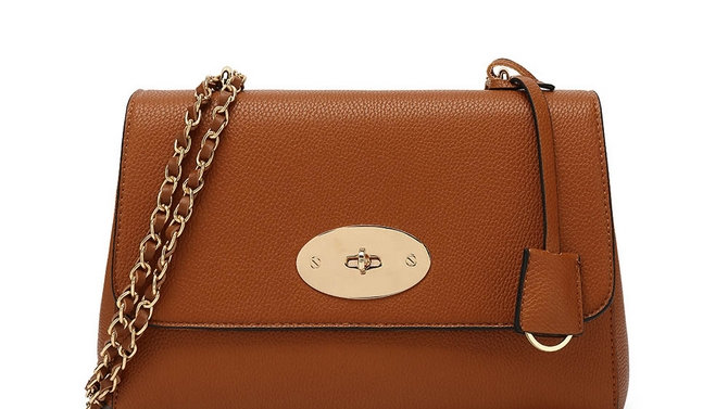Tan Lily Inspired Chain Strap Bag