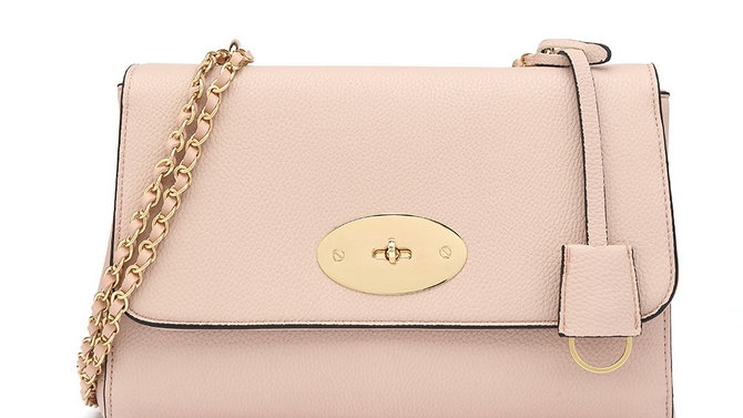 Pink Lily Inspired Chain Strap Bag