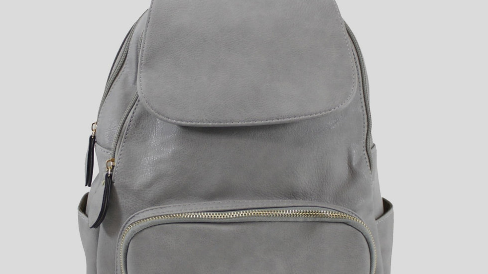 Dark Grey Classic Flap Over Backpack