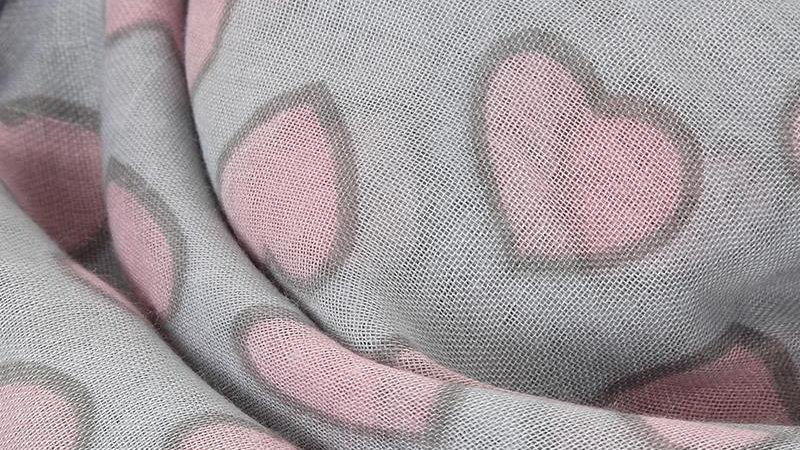 Full of Love Heart Print Scarf