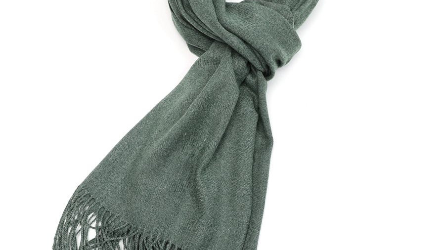 Sage Green Plain Scarf