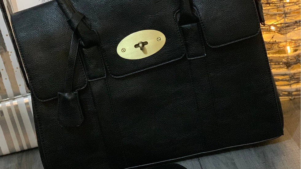 Black Inspired Tote Bag with Inspired Black Purse