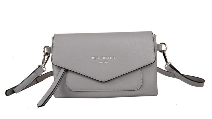 Red Cuckoo Silver Envelope Crossbody