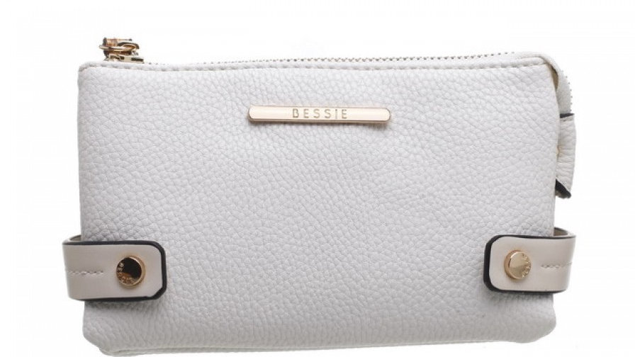 Bessie London White Snake Print Wristlet Purse