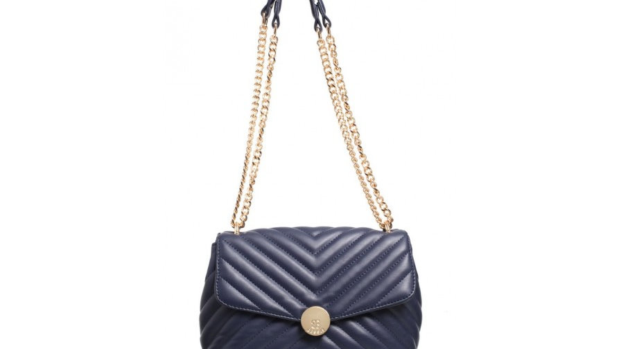 Bessie London Quilted Flap Over Ring Chained Shoulder Bag