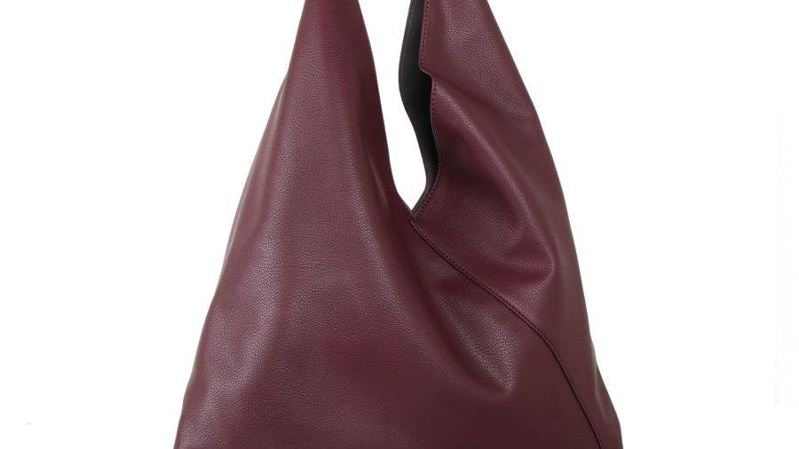 Red Cuckoo Burgundy Hobo Bag