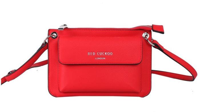 Red Cuckoo Red Cross Body Bag