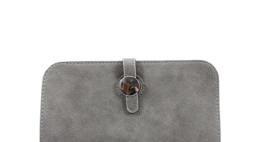 Inspired Grey Purse With Card Holder
