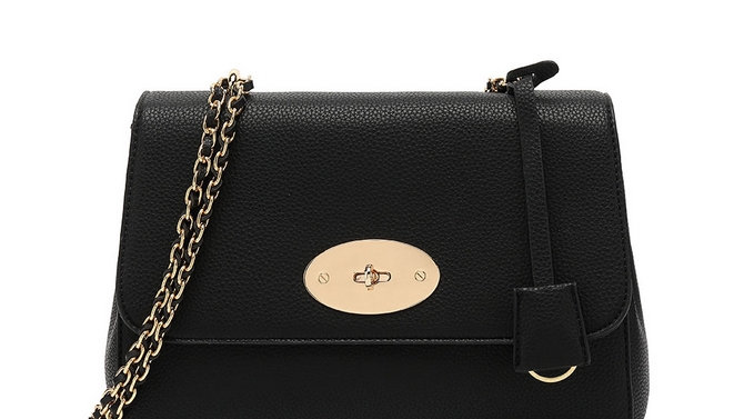 Black Lily Inspired Chain Strap Bag